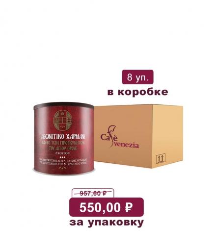 Молотый кофе Афонитико Хармани со специями темная обжарка (коробка)