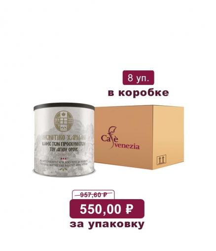 Молотый кофе Афонитико Хармани со специями светлая обжарка (коробка)